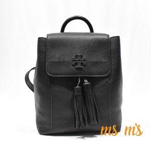 NWT Tory Burch McGraw Tassel Black Backpack